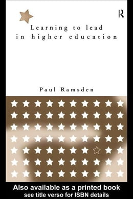 Book Learning to Lead in Higher Education by Ramsden, Paul