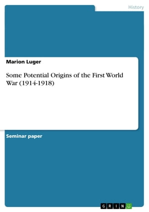 Some Potential Origins of the First World War (1914-1918) by Marion Luger