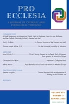 Pro Ecclesia Vol 17-N3: A Journal of Catholic and Evangelical Theology by Pro Ecclesia