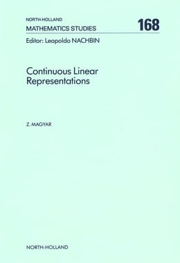 Book Continuous Linear Representations by Magyar, Z.