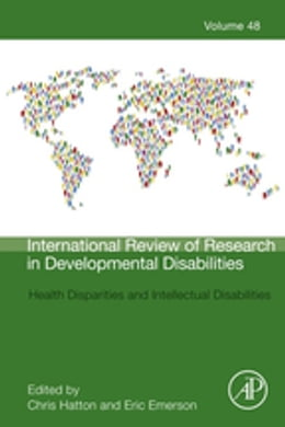 Book Health Disparities and Intellectual Disabilities by Christopher Hatton