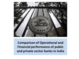 Operational and financial performance of public and private sector banks in India by Harsh Goyal