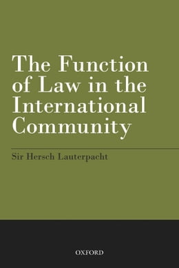 Book The Function of Law in the International Community by Hersch Lauterpacht
