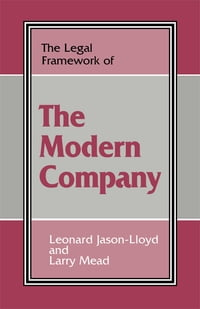 The Legal Framework of the Modern Company