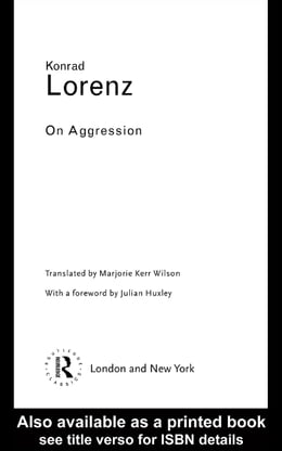 Book On Aggression by Lorenz, Konrad