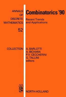 Book Combinatorics '90: Recent Trends and Applications by Barlotti, A.