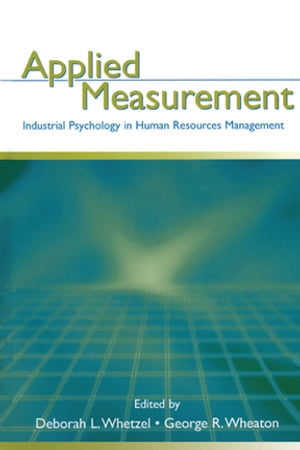Applied Measurement Industrial Psychology in Human Resources Management