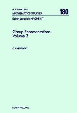Book Group Representations by Karpilovsky, Gregory