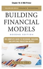 Building Financial Models, Chapter 18 - A VBA Primer by John Tjia