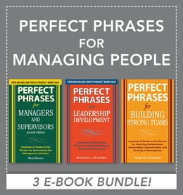 Book Perfect Phrases for Managing People (EBOOK BUNDLE) by Meryl Runion