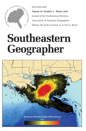 Southeastern Geographer Winter 2013 Issue