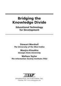 Bridging the Knowledge Divide: Educational Technology for Development