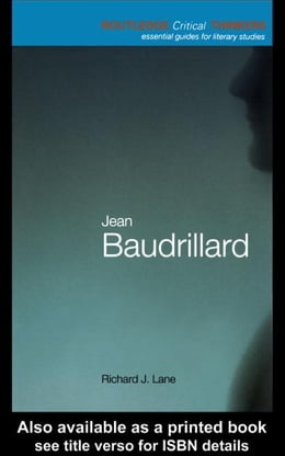 Book Jean Baudrillard by Lane, Richard J.