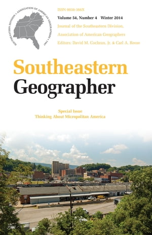Southeastern Geographer Winter 2014 Issue