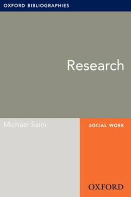 Book Research: Oxford Bibliographies Online Research Guide by Michael Saini