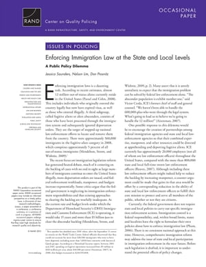 Enforcing Immigration Law at the State and Local Levels: A Public Policy Dilemma by Jessica Saunders