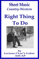 Sheet Music Right Thing To Do by Lee Gabor