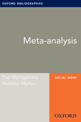 Book Meta-analysis: Oxford Bibliographies Online Research Guide by Paul Montgomery