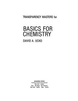 Book Transparency Masters for Basics for Chemistry by Ucko, David