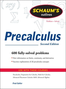 Book Schaums Outline of Precalculus 2/E (ENHANCED EBOOK) by Fred Safier