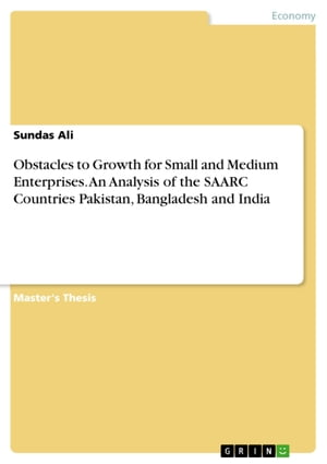 Obstacles to Growth for Small and Medium Enterprises. An Analysis of the SAARC Countries Pakistan, Bangladesh and India
