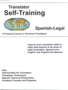 Translator Self-Training--Spanish Legal by Morry Sofer