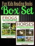 Fun Kids Reading Books Box Set: FROGS: Cute Frog Jungle Book: Hilarious Memes For Kids & All Frog Kid Pictures Photos Book + HORSES: Beautiful Horse Book: Weird & Funny Stuff To Learn About Horses