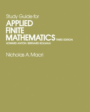 Study Guide for Applied Finite Mathematics