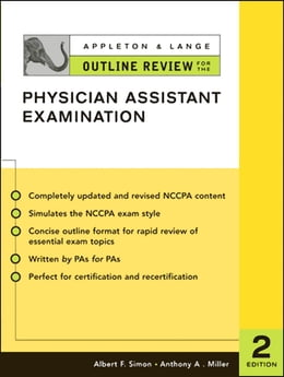 Book Appleton & Lange Outline Review for the Physician Assistant Examination, Second Edition by Albert Simon