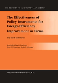 The Effectiveness of Policy Instruments for Energy-Efficiency Improvement in Firms: The Dutch…