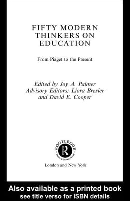 Book Fifty Modern Thinkers on Education by Palmer, Joy A.