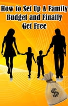 How to Set Up A Family Budget and Finally Get Free: Family Budgeting by T. Walt