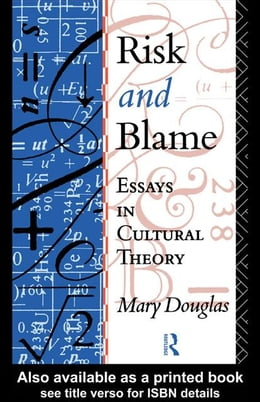 Book Risk and Blame by Douglas, Mary