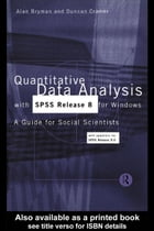 Quantitative Data Analysis with SPSS Release 8 for Windows