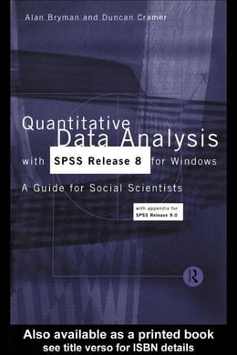 Book Quantitative Data Analysis with SPSS Release 8 for Windows by Bryman, Alan