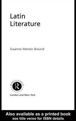 Book Latin Literature by Braund, Susanna Morton
