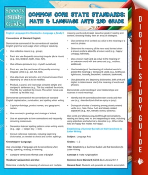 Common Core State Standards: Math And Language Arts 2nd Grade: (Speedy Study Guides) by Speedy Publishing