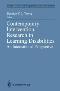 Contemporary Intervention Research in Learning Disabilities: An International Perspective