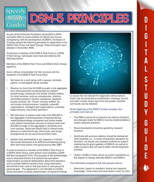DSM-5 Principles (Speedy Study Guides) by Speedy Publishing