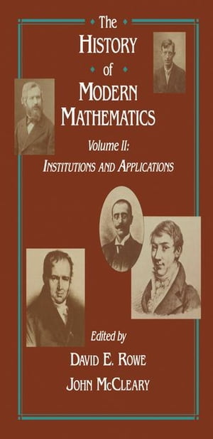 Institutions and Applications: Proceedings of the Symposium on the History of Modern Mathematics,  Vassar College,  Poughkeepsie,  New York,  June 20-24,