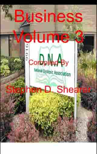 Business Volume 3 by Stephen Shearer
