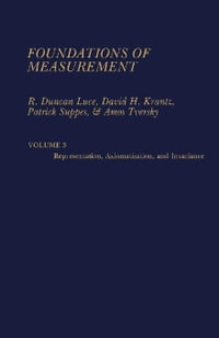 Foundations of Measurement: Volume 3