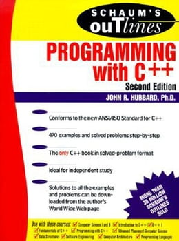 Book Schaum's Outline of Programming with C++ by Hubbard, John