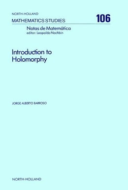 Book Introduction to Holomorphy by Barroso, J.A.