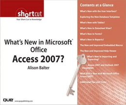 Book What's New in Microsoft Office Access 2007? (Digital Short Cut) by Alison Balter