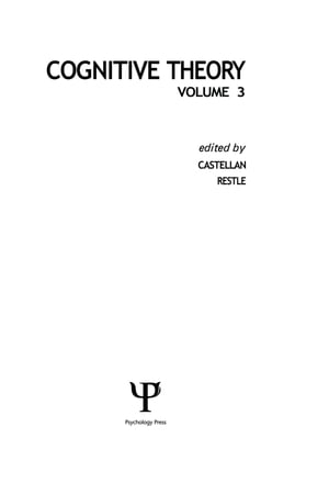 Cognitive Theory Volume 3
