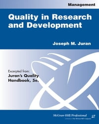 Quality in Research and Development