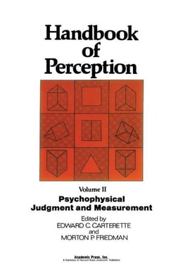 Book Psychophysical Judgment and Measurement by Carterette, Edward