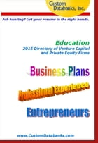 Education 2015 Directory of Venture Capital and Private Equity by Jane Lockshin