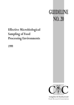 Book Effective microbiological sampling of food processing environments (1999) by Dr. John Holah